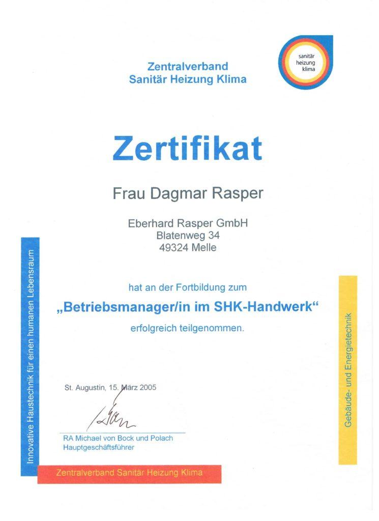 Dagmar Rasper - Betriebsmanager