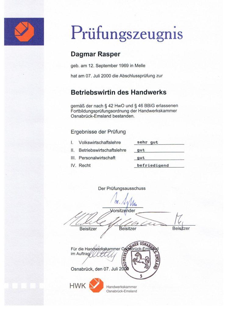 Dagmar Rasper - Betriebswirt